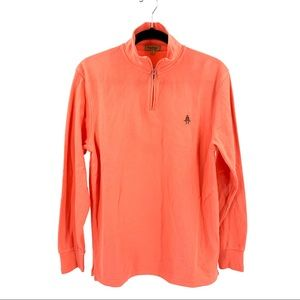 Paul Stuart NWT Mandarin Long Sleeve Quarter Zip